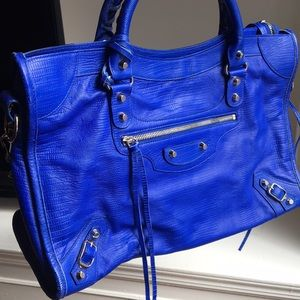 Balenciaga Flo Blue City bag, Rare Tote